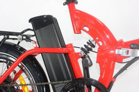 Green Bike USA GB500 Full Suspension Electric Bicycle, Electric Folding Bike - RED