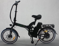 Green Bike USA GB5 500 Full Suspension Electric Bicycle, Electric Folding Bike - MATTE BLACK