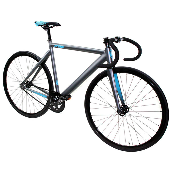 Zycle Fix Prime Alloy GREY / CELESTIAL  Fixie Fixed Gear Track Bike