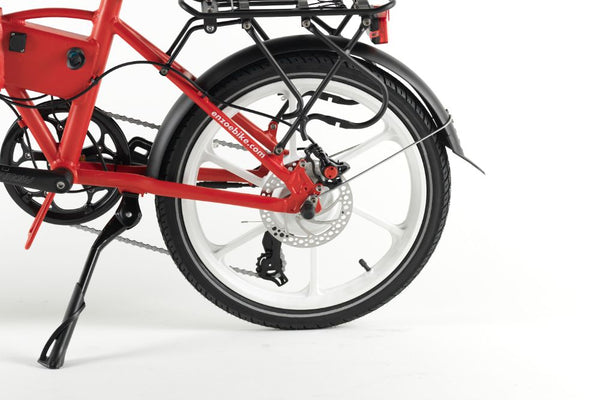 Enzo e-Bike Folding Electric Bicycle RED