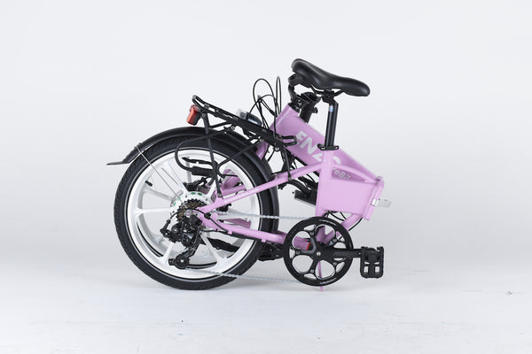 Enzo e-Bike Folding Electric Bicycle PINK