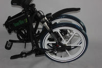Green Bike USA GB-SMART Full Suspension Electric Bicycle, Electric Folding Bike - BLACK / RED RIMS