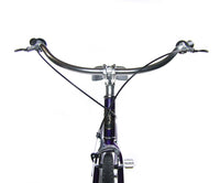 "Loco Fixie FG Cruiser 29"" The Morado Purple Frame with Polished Nickel Deep-V Rims"