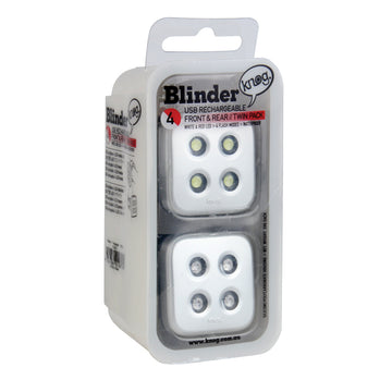 Blinder 4 Dots Twinpack Silver