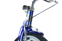 Loco Cycles The Mariner Beach Cruiser Bicycle Blue with Off-White Rims