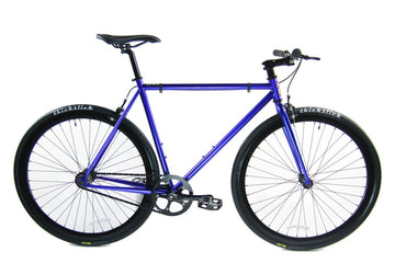 Loco Cycles Loco Fixie The Deep Blue Frame with Gloss Black Rims Fixed Gear Bike