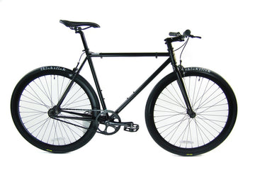 Loco Cycles Loco Fixie The Marley 2.0 Matte Black Frame with Matte Black Rims Fixed Gear Bike