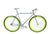 Loco Cycles Loco Fixie The Limelite Matte Grey Frame with Neon Green Rims