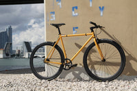 Loco Cycles Loco Fixie The Tangelo Matte Orange Frame with Matte Black Rims Fixed Gear Bike