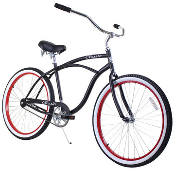Zycle Fix Classic Men Black/Red Beach Cruiser 26""