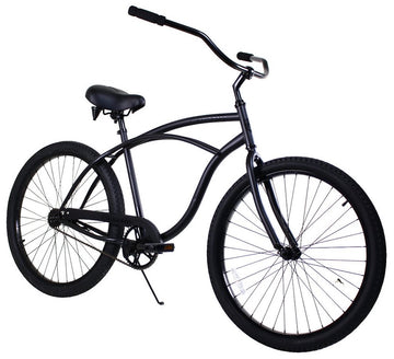 Zycle Fix Classic Men Black Beach Cruiser 26""