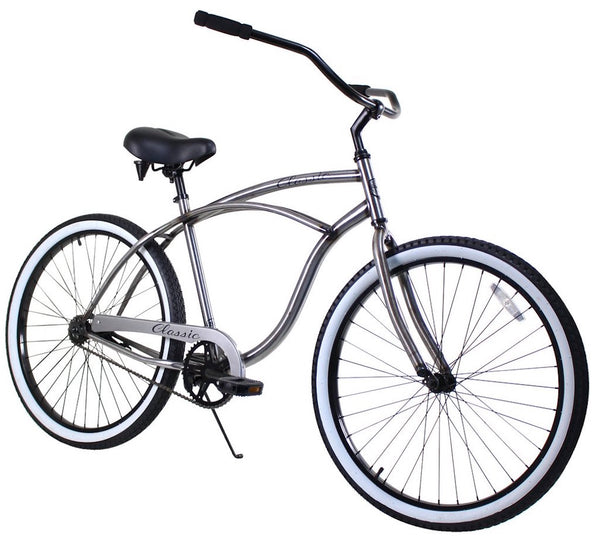 Zycle Fix Classic Men Raw Beach Cruiser 26""