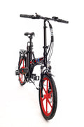 Ness Rua Electric Folding Bike BLACK with RED WHEELS