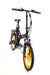 Ness Rua Electric Folding Bike BLACK with YELLOW WHEELS angled