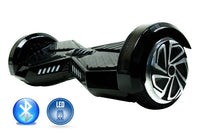 Smart Self-Balance Scooter Hoverboard LED and additional Custom Lighting w/ Bluetooth , Remote + FREE BAG BLACK