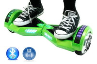 Smart Self-Balance Scooter Hoverboard LED and additional Custom Lighting w/ Bluetooth , Remote + FREE BAG NEON GREEN