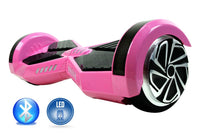 Smart Self-Balance Scooter Hoverboard LED and additional Custom Lighting w/ Bluetooth , Remote + FREE BAG PINK