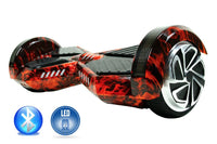 Smart Self-Balance Scooter Hoverboard LED and additional Custom Lighting w/ Bluetooth , Remote + FREE BAG FLAME RED