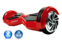 Smart Self-Balance Scooter Hoverboard LED and additional Custom Lighting w/ Bluetooth , Remote + FREE BAG RED