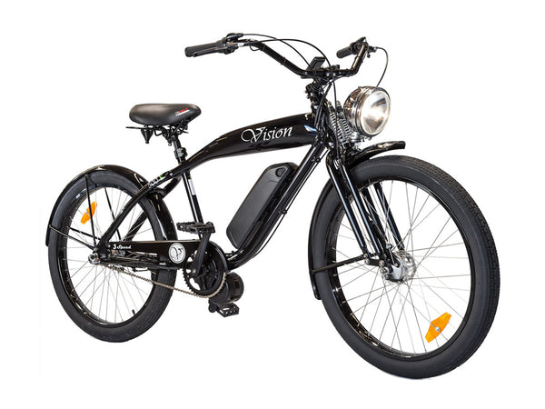 Phantom Bikes Electric Vision Classic Cruiser Electric Bicycle