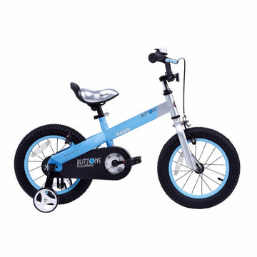 Royalbaby Matte Buttons 12 inch Blue Kids Bike