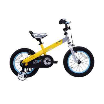Royalbaby Matte Buttons 12 inch Yellow Kids Bike