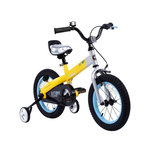 Royalbaby Matte Buttons 14 inch Yellow Kids Bike
