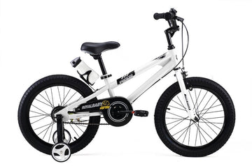 RoyalBaby Freestyle White 18 inch Kids Bicycle