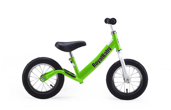 RoyalBaby Jammer 12 inch Green Balance/Running Bike