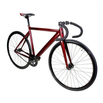 Zycle Fix Prime Alloy RED BLACK Fixie Fixed Gear Track Bike