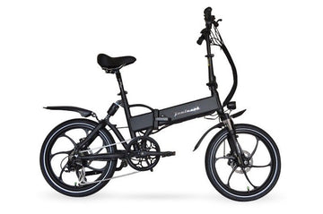 Joulvert Stealth Full Suspension Electric Bicycle , Folding Electric Bike Matte Black