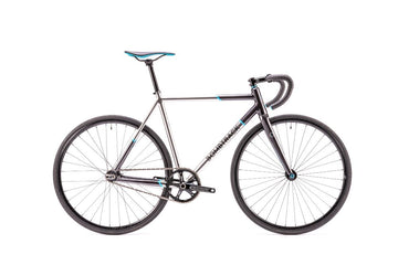 Bombtrack Script 700C Track Bicycle Metallic Silver 2 Tone