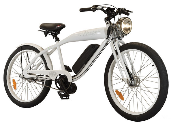Phantom Bikes Electric Shadow Classic Cruiser Electric Bicycle