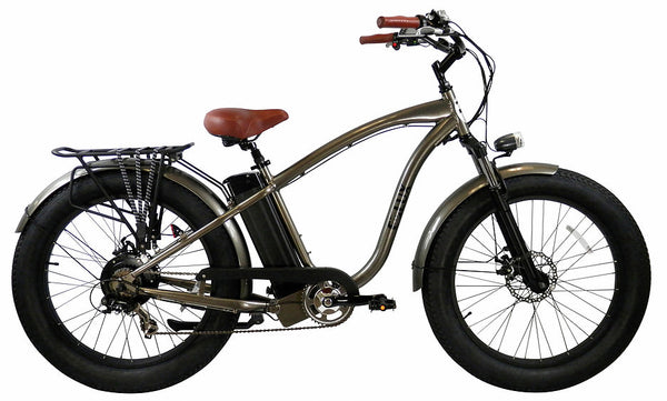 E-lux Tahoe Step Over Electric Fat Tire Bike Gun Metal