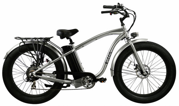 E-lux Tahoe Step Over Electric Fat Tire Bike Silver