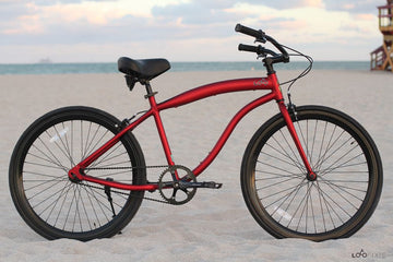 Loco Fixie FG Cruiser 700c The Ace Velvet Red Frame With Gloss Black Deep-V Rims