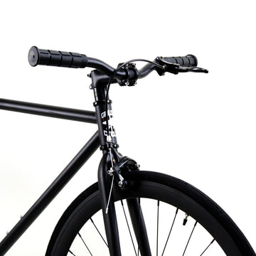 Golden Cycles Vader Fixed Gear Bike Matte Black Frame with Matte Black Deep V Rims
