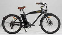 Ariel Rider Ebikes W-Class Premium Electric Beach Cruiser in Black
