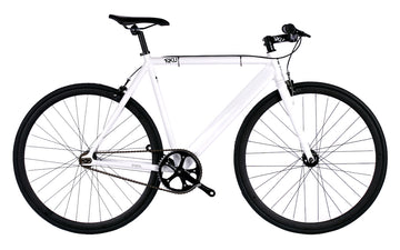 6KU Urban Track Bike Fixed Gear Bike WHITE