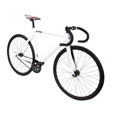 Zycle Fix Prime Alloy WHITE Fixie Fixed Gear Track Bike