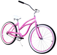 Zycle Fix Classic Lady Pink Beach Cruiser 26""