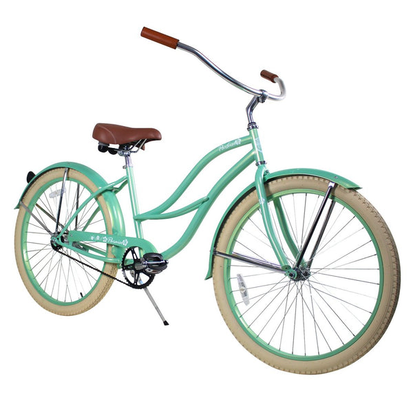 "Zycle Fix 26"" 2017 Paraiso Beach Cruiser Single-Speed Bike Mint"