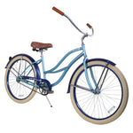 "Zycle Fix 26"" 2017 Paraiso Beach Cruiser Single-Speed Bike Misty"