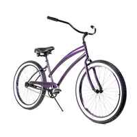 "Zycle Fix 26"" Cheetah Beach Cruiser Single-Speed Bike Purple"