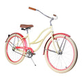 "Zycle Fix 26"" Paraiso Beach Cruiser Single-Speed Bike Sandy"