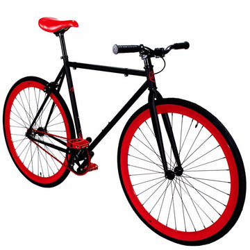 Zycle Fix Fixed Gear Bike Black Cherry Pursuit Fixie
