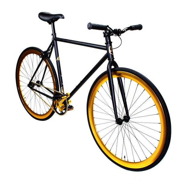 Zycle Fix Fixed Gear Bike Black Gold Pursuit Fixie