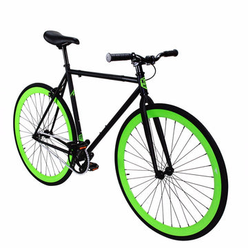 Zycle Fix Fixed Gear Bike Green Monster Fixie