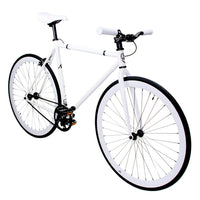 Zycle Fix Fixed Gear Bike White Fixie