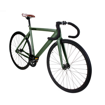 Zycle Fix Prime Alloy MATTE GREEN Fixie Fixed Gear Track Bike
